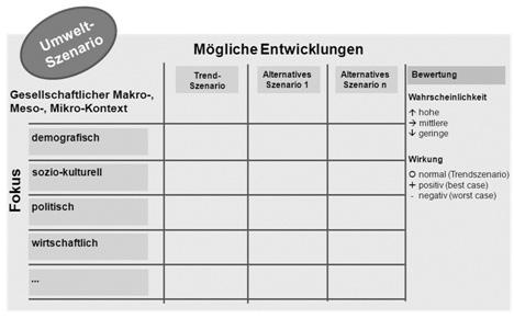 Abb. 9: Umweltszenario - Entwicklungsschema