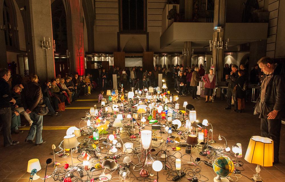 """""""Zeig Dein Licht """" - Eine Aktion der Gemeinde Zeitfenster im Rahmen der Nacht der offenen Kirchen in Aachen 2014"""