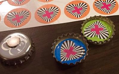 """Beispiel für die Materialisierung der Tonality """"handgemacht"""" - Hand-made-Kühlschrankmagnete"""